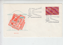 LUSSEMBURGO 1960 - Annullo Speciale Illustrato - Expo Europa - Mondorf.les-Bains - Esposizioni Universali