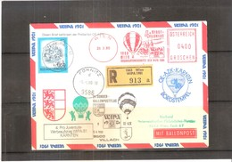 Österreich 1980 - Ballon Postflug - Pro Juventute Wipa 81 - Kärnten - On Registered Cover (to See) - Par Ballon