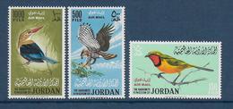 JORDAN - YVERT N° PA 25/27 ** MNH - COTE = 270 EUR. - OISEAUX - Jordanie