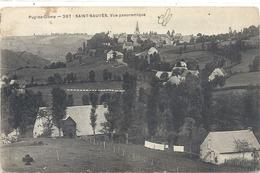 PUY-DE-DOME -267- SAINT-SAUVES , VUE PANORAMIQUE AFFR AU VERSO LE 25-6-1911 . 2 SCANES - Autres Communes