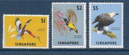 SINGAPORE - YVERT N° 62/64 ** MNH - COTE = 80 EUR. - OISEAUX - Singapour (1959-...)
