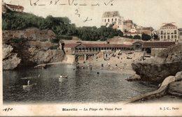 BIARRITZ    LA PLAGE DU VIEUX PORT - Biarritz