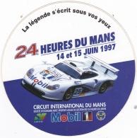 Autocollant Des 24 Heures Du Mans Des 14 Et 15 Juin 1997 - Voitures (Courses)