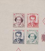 Monaco N° 334 B / 337 B  XX Au Profit De La Croix-Rouge ., Les 4 Valeurs Non Dentelées  En Bloc Sans Charnière TB - Unused Stamps