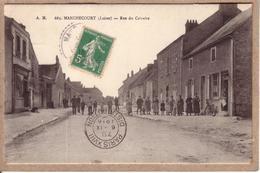 LOIRET , PARIS - DE MANCHECOURT A PARIS - CAD D' ARRIVEE PARIS XVIII DISTRIBUTION + TAXE AU DOS - 1916 - Postmark Collection (Covers)