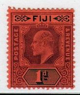 Fiji 1903 King Edward 1d Dull Purple And Black/red Single Stamp. - Fiji (...-1970)