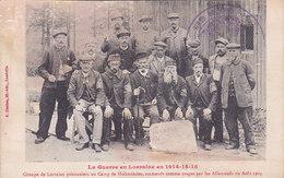 Allemagne Groupe Lorrains Prisonniers Au Camp De Holzminden Emmenés Comme Otages Par Les Allemands En Aout 1914 - Holzminden