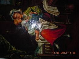 Tres Beau Tableau Peinture A L Huile 17eme Siecle. Oeuvre St Magnifique Elle A Ete Restaure.d Une Grande Rarete.parfait - Oils