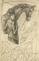 Cheval Et Ecuyère  - Rafael Neuber, Wien - Other Illustrators