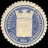Bürgermeisteramt Der Stadt Markirch Siegelmarke - Erinnophilie