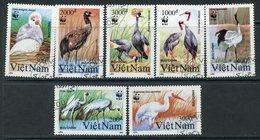 Y85 VIETNAM 1991 2302-2308 WWF. Birds. Storks Herons Fauna - W.W.F.
