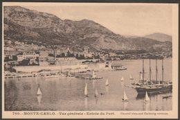 Vue Générale, Entrée Du Port, Monte-Carlo, C.1930 - Gilletta CPA - Monte-Carlo