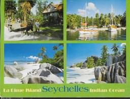 SEYCHELLES - LA DIGUE - VEDUTE - VIAGGIATA 2005  FRANCOBOLLO ASPORTATO - Seychelles