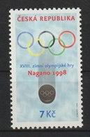 MiNr.166 Tschechische Republik: 1998, 20. Jan. Olympische Winterspiele, Nagano. - Tschechische Republik