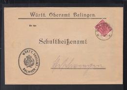 Württemberg Dienstbrief Oberamt Balingen 1921 - Dienstpost
