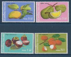 THAÏLANDE - YVERT N° 622/625 ** MNH - COTE = 20 EUR. - FAUNE ET FLORE - FRUITS - Thaïlande