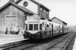 """Sézanne. Autorail """"Picasso"""" Série X 3800. Cliché Jacques Bazin. 14-03-1964 - Trains"""