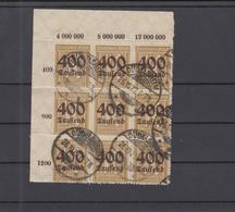 Dt. Reich 9er Block Eckrand Gestempelt - Deutschland