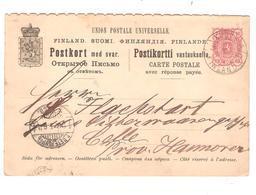PR6039/ Entier CP Réponse Payée C.Kouvola Finland V.Allemagne - Finlande