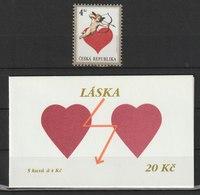 MiNr.168 + MH 53 Tschechische Republik: 1998, 4. Febr. Grußmarke. - Tschechische Republik