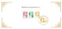 France 2013 - Bloc Souvenir Philatélique N°82 Marianne Et La Jeunesse De Ciappa & Kawena Lettre Verte Et Lettre TVP 20gr - Sheetlets