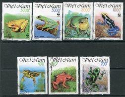 Y85 VIETNAM 1991 2344-2350 WWF. Frogs. Amphibians. Fauna - W.W.F.