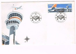 Namíbia, 1977, FDC Airplanes Airport Turism - Namibia (1990- ...)