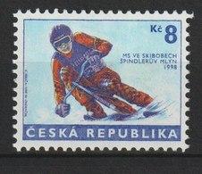 MiNr.170 Tschechische Republik: 1998, 25. Febr. Skibob-Weltcuprennen, Spindleru˚v Mly'n (Spindlermühle). - Tschechische Republik