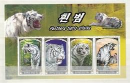 North Korea 2005 White Tiger (4) SHEET UM - Corea Del Norte