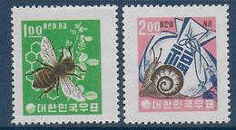 COREE DU SUD - YVERT N° 291/292 ** MNH - COTE = 20 EUR. - FAUNE ET FLORE - - Corée Du Sud