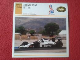 FICHA TÉCNICA DATA TECNICAL SHEET FICHE TECHNIQUE AUTO COCHE CAR VOITURE 1989 1990 BRABHAM BT 58 RACE CARS VER FOTO/S - Voitures