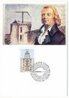 FRANCE - Carte Maximum - 2,50 Télégraphe Chappe - Premier Jour - 95 St Martin Du Tertre - Cartes-Maximum
