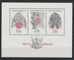 MiNr. 173 - 175 (Block 7) Tschechische Republik: 1998, 1. April. Blockausgabe: Prag Zur Zeit Karls IV. - Tschechische Republik