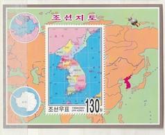 North Korea 2005 Map-Arctic-Antarctic M.S. UM - Corea Del Norte