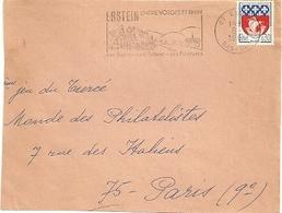RHIN / Bas - Dépt N° 67 = ERSTEIN  1966 =  FLAMME Codée = SECAP Illustrée 'entre VOSGES Et RHIN / Sucre-tabac ' - Postmark Collection (Covers)