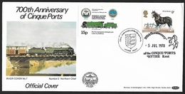 1978 - GREAT BRITAIN - FDC [Railways] + SG 1063+Railway Letter + HYTHE - 1971-1980 Decimal Issues