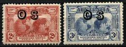 AUSTRALIA, 1932, KINGSFORD SMITH'S WORLD FLIGHTS, YV#S.60-61, MH - 1913-48 Kangaroos
