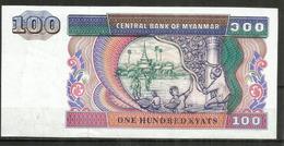 MYANMAR. 100 KYAT . NEUF. UNCIRCULATED - Myanmar