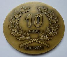 Portugal : 10 Anos 1991-2001 Escola Profissional : Agentes De Serviço E Apoio Social - Professionnels / De Société