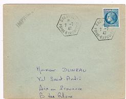 38  GRENOBLE Cachet Hexagonal De La Foire-expo S/ YT 678 Seul S/ Lettre Cote YT 11 €; - Tarif Imprimé  531 - Marcophilie (Lettres)
