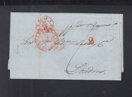 Spanien Espana Faltbrief 1842 Madrid Nach London - Spanien
