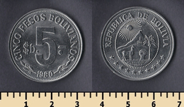 Bolivia 5 Pesos Bolivianos 1980 - Bolivie