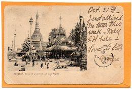 Rangoon Burma Myanmar 1903 Postcard - Myanmar (Burma)