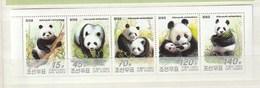 North Korea 2005 Panda (5)STRIP UM - Corea Del Norte