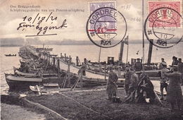 Dordrecht 1921 Pays Bas Nederland Cannes Alpes Maritimes Ons Bruggendepot Schipbruggedeelte Van Een Ponton-schipbrug - Briefe U. Dokumente