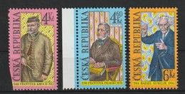 MiNr. 184 - 186  Tschechische Republik: 1998, 27. Mai. Persönlichkeiten. - Tschechische Republik