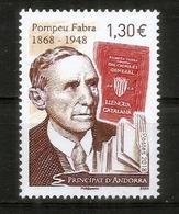 Pompeu Fabra (reform Of Contemporary Catalan Language), Un Timbre Neuf **  2018 - Nuovi