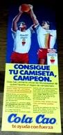 Antigua Publicidad - COLA CAO Mundobasket España 86 - 28,5x10cm / 1986 - Publicidad