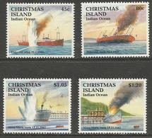 Christmas Island - 1992 Ships Sinking MNH **  Sc 343-6 - Christmas Island