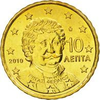 Grèce, 10 Euro Cent, 2010, SPL, Laiton, KM:211 - Grèce